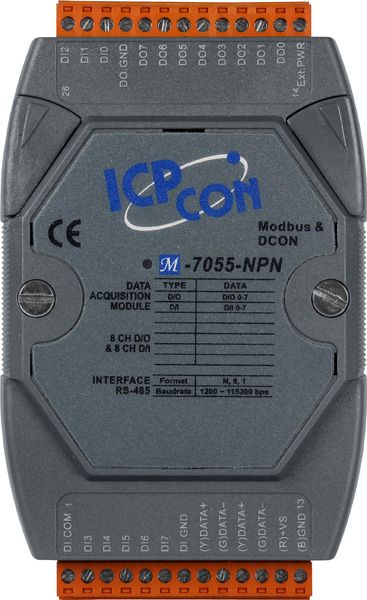 M-7055-NPN-GCR-ModbusRTU-IO-Module buy online at ICPDAS-EUROPE