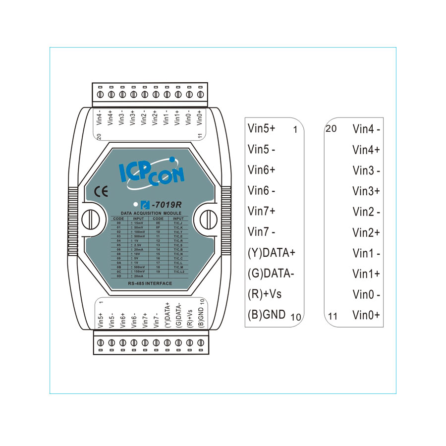 I-7019RCR-DCON-IO-Module buy online at ICPDAS-EUROPE