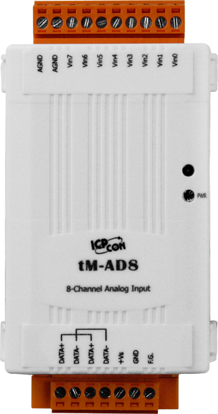 tM-AD8CR-ModbusRTU-IO-Module buy online at ICPDAS-EUROPE