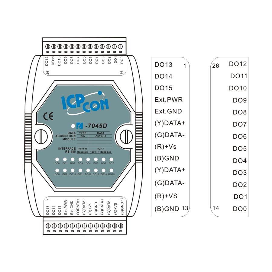 I-7045DCR-DCON-IO-Module buy online at ICPDAS-EUROPE