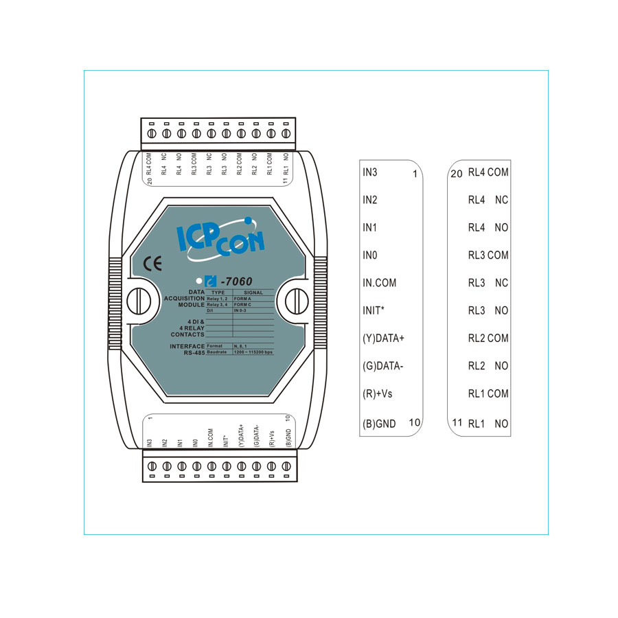 I-7060CR-DCON-IO-Module buy online at ICPDAS-EUROPE
