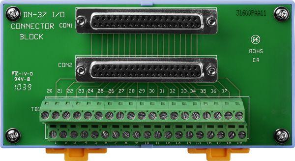 DN-37CR-Screw-Terminal-Board buy online at ICPDAS-EUROPE