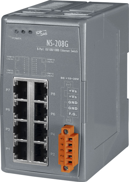 NS-208GCR-Unmanaged-Ethernet-Switch buy online at ICPDAS-EUROPE