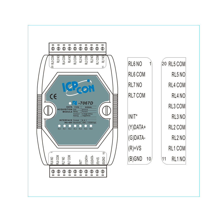 I-7067DCR-DCON-IO-Module buy online at ICPDAS-EUROPE