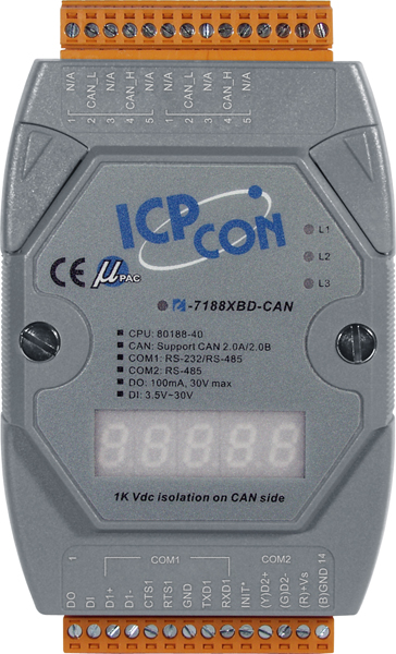 I-7188XBD-CAN-GCR-MiniOS-Automation-Controller buy online at ICPDAS-EUROPE