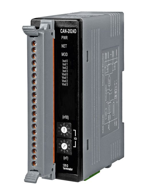 CAN-2024DCR-DeviceNet-IO-Module buy online at ICPDAS-EUROPE