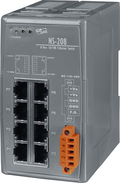 NS-208CR-Unmanaged-Ethernet-Switch buy online at ICPDAS-EUROPE