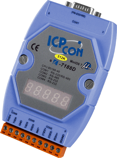I-7188D-512CR-MiniOS-Automation-Controller buy online at ICPDAS-EUROPE